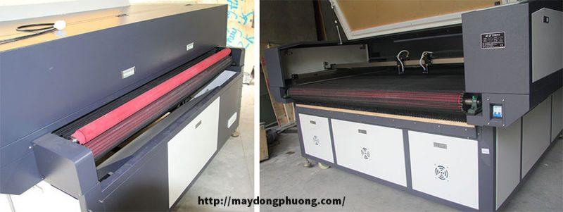Máy Laser cắt vải cuộn tự động