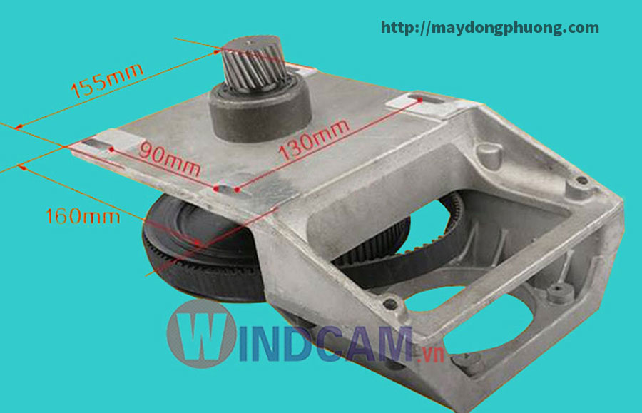 Kích thước hộp số máy CNC giá rẻ