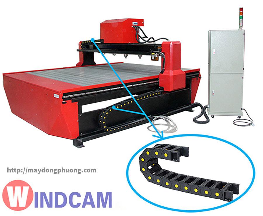 Máng Xích nhựa luồn dây cáp điện máy cnc