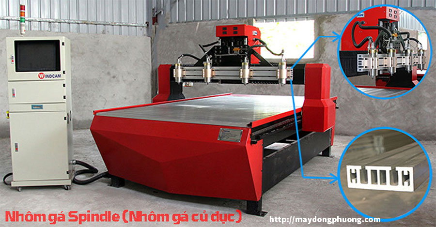 Nhôm gá Spindle máy CNC