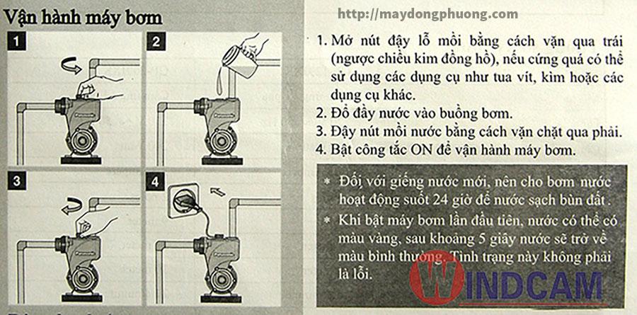 Vận hành máy bơm nước panasonic