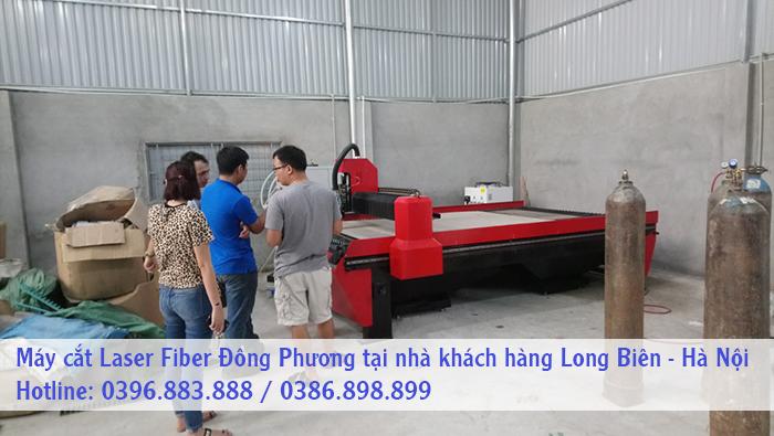 máy cắt cnc laser fiber Đông Phương tại nhà khách hàng