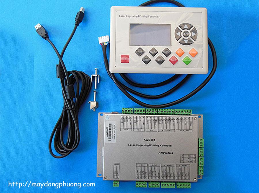 Bộ điều khiển máy Laser AWC 608 chính hãng