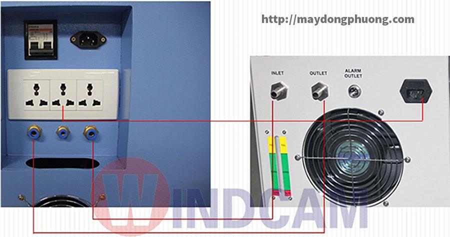 Đầu nối dây nước chiller CW-5000