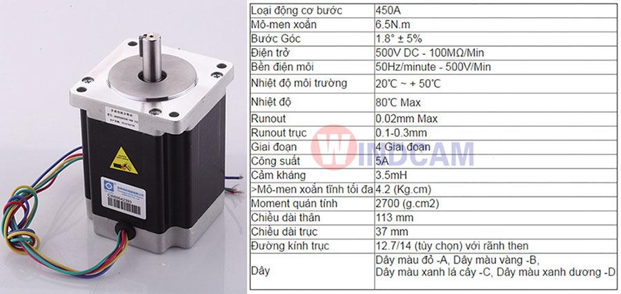 Động cơ bước step motor 110mm 450A