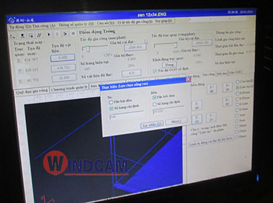 Giao diện phần mềm bộ điều khiển CA100