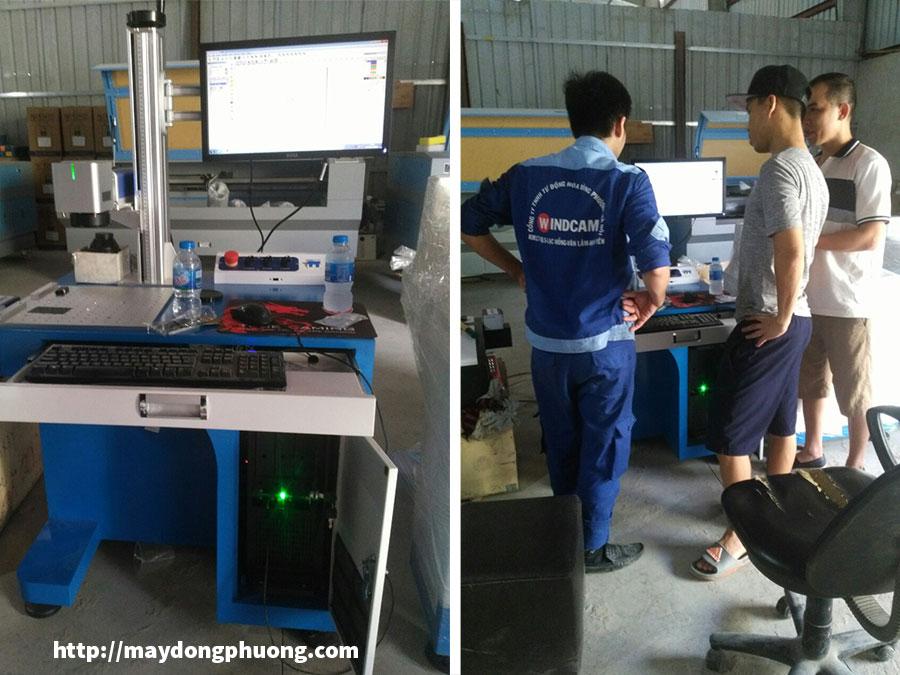 Máy laser khắc kim loại fiber