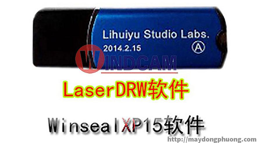 usb khóa phần mềm máy laser xanh