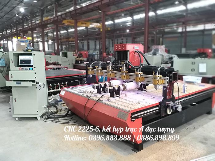 Máy khắc CNC 2225-6 đầu