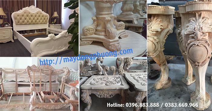 máy đục tượng gỗ trong sản xuất đồ tân cổ điển