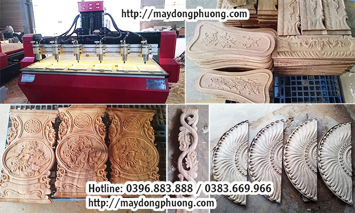 máy cnc khắc gỗ 6 mũi