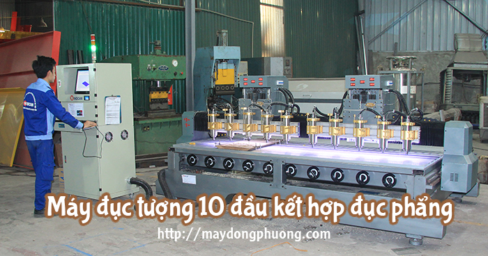 máy đục tượng 10 đầu