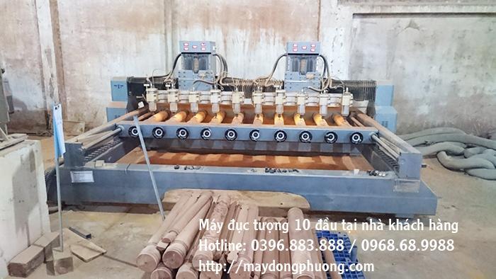 máy đục tượng gỗ cnc 10 đầu