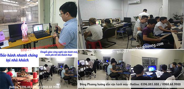 Đông Phương hướng dẫn vận hành máy tại công ty