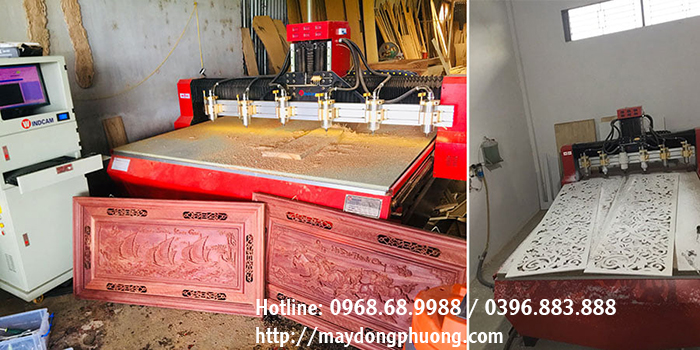 máy chạm gỗ 6 đầu